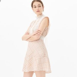 Sandro Peach Dress Lace